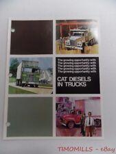 c.1975 Caterpillar Diesels in Trucks Industrial Brochure Vintage Original VG+