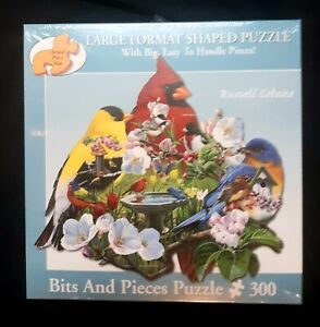 NEW 300 PC Large FORMAT Bits & Pieces FEATHERED TRIO Puzzle #47938 25' x 25' 13+