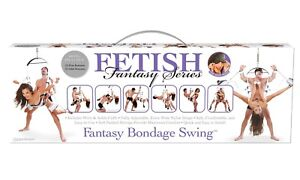 Fetish Fantasy Bondage Swing White, Adult Kinky Couples Bedroom Sexy Play, New
