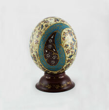 Painted Ostrich Egg , Gift, Decorations, Persian carpet, Easter egg T815