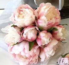 SILK WEDDING PEONY PEONIE ROSES ROSE PINK FLOWER FLOWERS BOUQUET