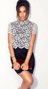 ROCHELLE HUMES HIGH NECK LACE 2 IN 1 DRESS SIZE 12