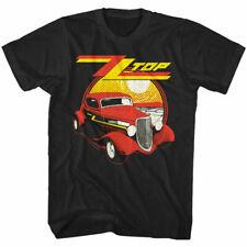 ZZ Top Eliminator Album Cover Shirt Cotton Vintage Car Tee Rock Band Live Merch