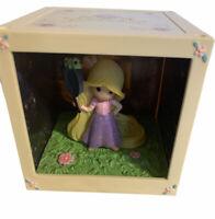 New Precious Moments Disney Showcase 2016 LED Cube Princess Rapunzel Shadow Box