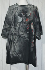 Black MMA ELITE Dark Angel Bloody Graphic Short Sleeve Shirt XXL