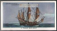 16th Century English Tudor Naval Ship  80 Y/O Ad Trade Card