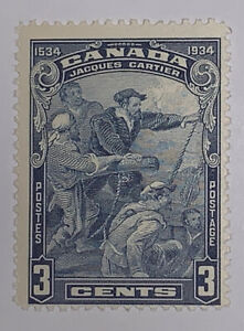 TRAVELSTAMPS: 1934 CANADA STAMPS SC #208 CARTIER'S ARRIVAL AT QUEBEC Mint OG NH