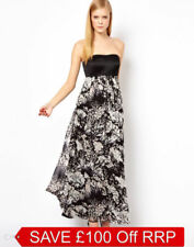 Silk Dresses Maxi with Strapless/Bandeau