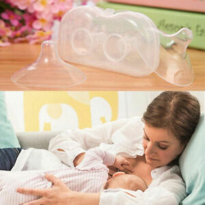 2 x Silicone Nipple Shield Protectors Breast Feeding for Baby FAST UK Supplier
