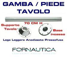 GAMBA TAVOLO COMPLETA DI BASI IN LEGA LEGGERA H.70 CM. PER BARCA CAMPER