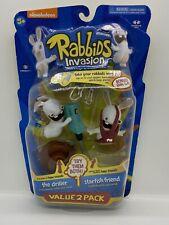 RABBIDS INVASION The Driller/Starfish Value 2 Pk McFarlane Toys Nickelodeon