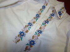 Vintage Ukrainian embroidered men's  shirt Poltava region1960's  #k31