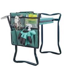 Portable Oxford Garden Kneeler Seat and Tool Bag Outdoor Work Cart 2 in1 Storage