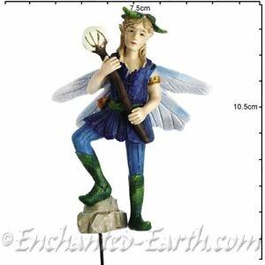 New Fairy Garden Fairy Georgetown - Fiddlehead - Large Woodland Fairy - Lance