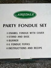 PARTY FONDUE SET - Never Used - Airedale - Great Condition - Green