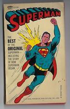 Vintage 1966 Superman paper back book digest Graphic novel,black and white pages