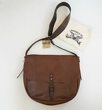 RALPH LAUREN RRL Double RL Brown Crackled Leather Messenger Shoulder SADDLE Bag