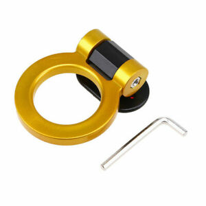 1x Golden Universal Front Rear Bumper Decoration Racing Tow Hook Golden Ring