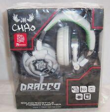 *NEW* Tt Chao DRACCO White PRO DJ Hi-Fi BASS Headphones iPhone iPad MP3 beats LG