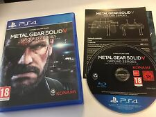 * Playstation 4 Game * METAL GEAR SOLID V 5 - GROUND ZEROES * PS4