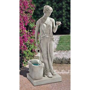 KY2079 - Hebe, Goddess of Youth Garden Fountain w/Pump!