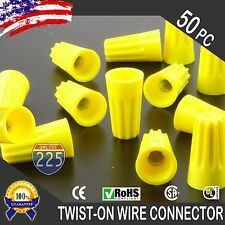 (50) Yellow Twist-On Wire GARD Connector Conical nuts 18-12 Gauge Barrel Screw