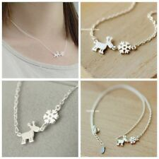 Christmas Gift Cute Clavicle Chain Silver Necklace Elk&snowflake