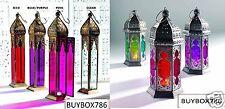 Moroccan Large Tonal / Tall Plain Glass Lanterns Tealight Holder Home Garden New