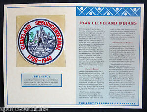 1946 CLEVELAND INDIANS Willabee & Ward LOST TREASURES BASEBALL TEAM / CITY PATCH