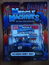 Muscle Machines '68 1968 Dodge Hemi Dart Red Light Bandit 1.64 MOC Blue 2004