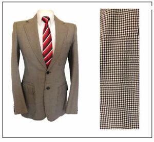 "Dave Davis London Tailor of Distinction tweed Jacket  Ch36""R Brown Houndstooth"