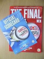 2009 ICC WORLD Twenty20 England 09 Final Official Souvenir Programme(Org,Exc*)