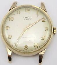 Vintage Majex 9ct gold gents 21 jewel Swiss gents wristwatch In Working Order.
