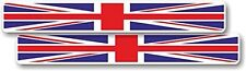 Vinyl sticker/decal Small 100mm stretched Union Jack flag - pair
