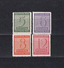 SBZ Ziffer 1945** Postmeistertrennung Michel 116-119 DX geprüft (S11802)
