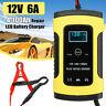 12V 6A Caricabatterie Mantenitore Batteria Impulso LCD Piombo Acido Auto e