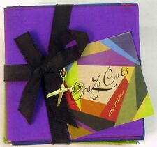 CRAZY CUTS SILK BUNDLE packaged with Charm by Moda Fabric + CRAZY BLOCK TEMPLATE