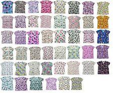 Zikit Womens Fashion Medical Nursing Scrub Tops Printed Plus Size Xs-4Xl