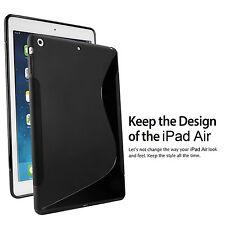 High Impact S Type Design Soft Back Skin Rubber TPU Case Cover For iPad Air 5