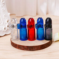 Portable Bullet Snuff Dispenser Snorter Rocket Shape Acrylic Bottle Nasal Box