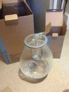 Partylite Optic Shimmer Limited Edition Hurricane Lamp & triple tealight holder