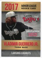 2017 Vladimir Guerrero Jr  Minor League Lansing Lugnuts Phenoms Rookie