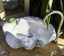Aquamarine Giant Clam Shell Bathroom Sink Wash Basin Counter Top Special Gift