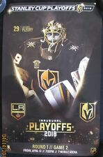 Vegas Golden Knights vs Los Angeles Kings Fleury playoff poster game 2