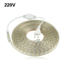 AC110V 220V LED Strip Light Waterproof Lamp IP67 Silicone Tube 5050 Power Plug