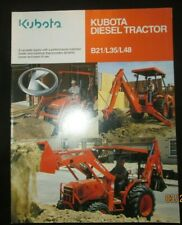 Kubota Diesel Tractor B21 L35 L48 Brochure Factory Original Oem 2004