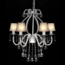 vidaXL Chandelier with 2300 Crystals White Pendant Light Lamp Lighting Fixture