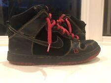 a06d852f Nike SB Dunk High Hi Unlucky 13 Black Red Size 10 305050-001 2004