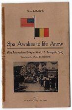 SCARCE 1944 SPA BELGIUM Awakes to Life Anew US ARMY Liberation AMERICAN Belgian