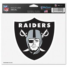 "Oakland Raiders 5""x6"" 5x6 Ultra Decal Window Laptap Car Truck Auto Multi Use"